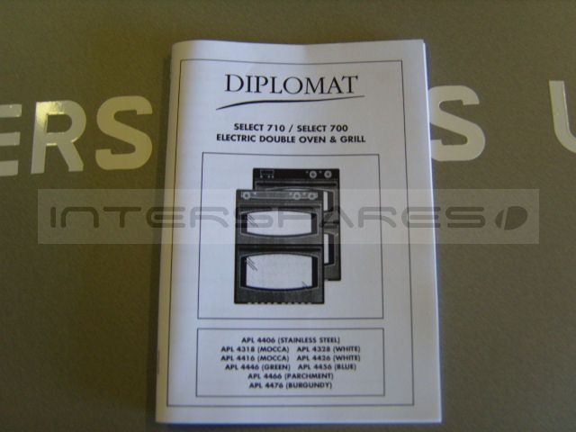 Diplomat Cooker Oven Instruction Manual 082057502