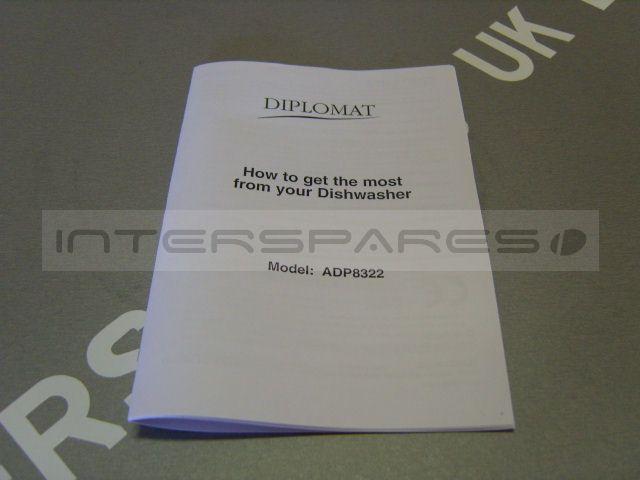 Diplomat Dishwasher Instruction Manual 501969693169