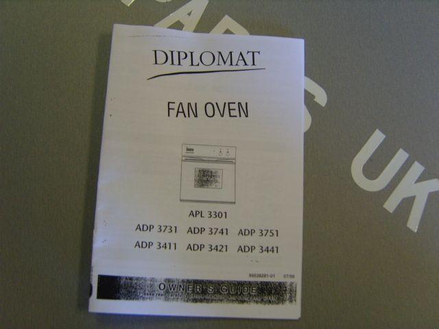 Diplomat Cooker Oven Instruction Manual 87x1042