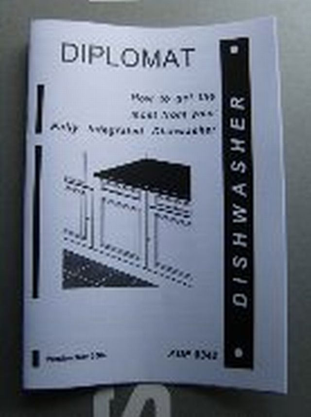 Air Conditioner Fan >> Diplomat Dishwasher INSTRUCTION MANUAL INSMANADP8342