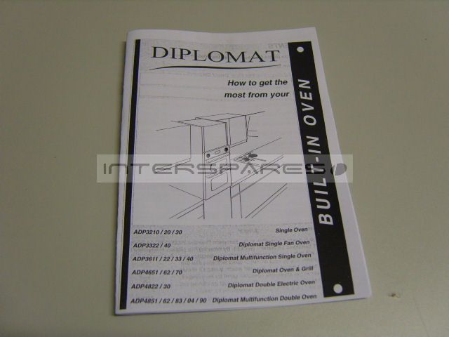 Air Conditioner Fan >> Diplomat Cooker / Oven INSTRUCTION MANUAL INSMANRANGER