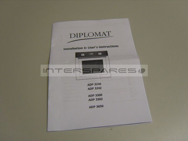 Diplomat Cooker    Oven Instruction Manual 300190751