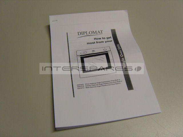 Diplomat Cooker Oven Instruction Manual Insmanadp3632