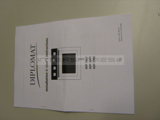 Diplomat Cooker Oven Instruction Manual Insmanadp3700
