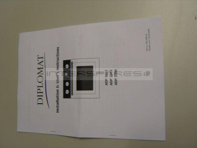 Diplomat Cooker    Oven Instruction Manual Insmanadp3700