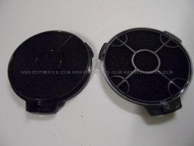 Cooke & Lewis Cata Designair Carbon Charcoal Filter - Pair CARBFILT4